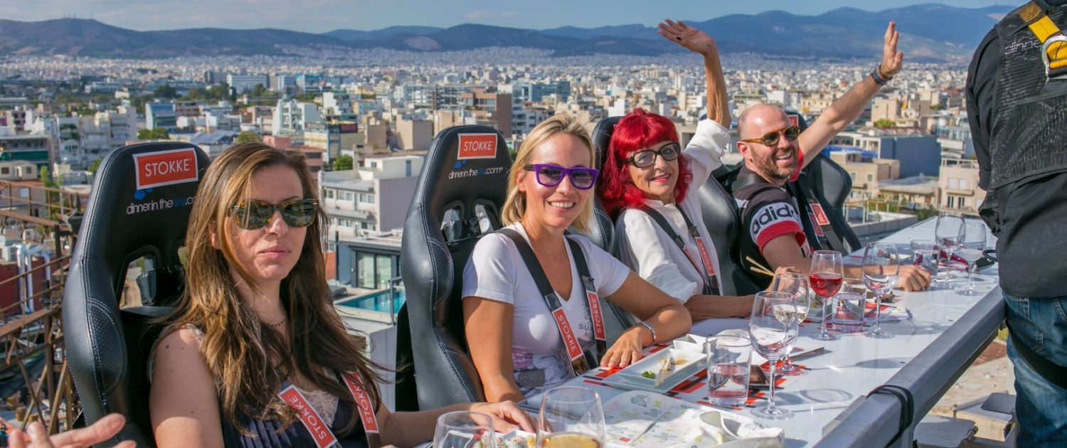 Say hello and cheese Dinner in the sky Greece