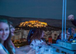 Amazing Acropolis view dinner in the sky greece
