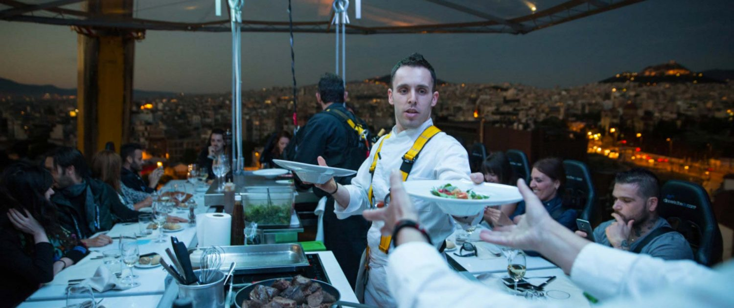 Gimme the food chef dinner in the sky greece